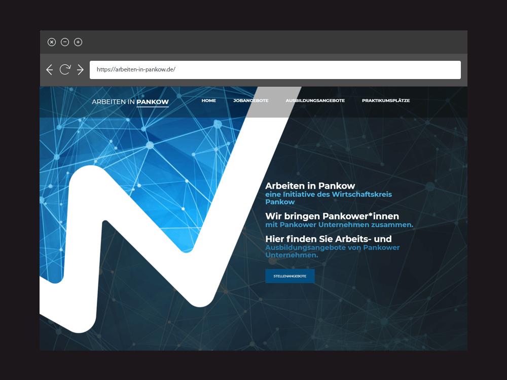 Webseite Arbeiten in Pankow (Mockup)