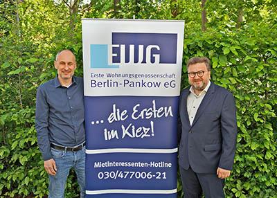 Erste Wohnungsgenossenschaft Berlin-Pankow eG | Ansprechpartner: Markus Luft (l.), Chris Zell (r.)